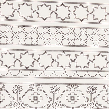 """Alamwar """"Damascus Outline"""" in Charcoal"""