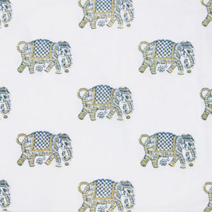 "Alamwar ""Elephant Walk"" in Blue.Yellow"