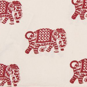 "Alamwar ""Elephant Walk"" in Cinnabar"