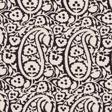 "Alamwar ""Large Paisley"" in Charcoal"
