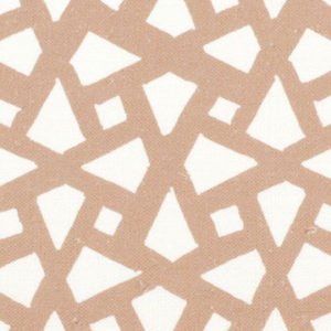 "Alex Conroy Textiles ""Mughal Lattice Large"" in Camel"