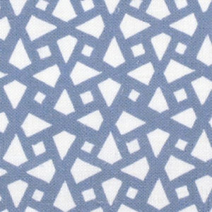 "Alex Conroy Textiles ""Mughal Lattice Small"" in Wedgwood Blue"