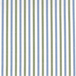 "Alex Conroy Textiles ""Small Stripe"" in Wedgwood Blue/Clover"