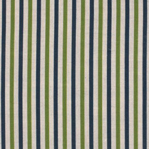 "Alex Conroy Textiles ""Small Stripe"" in Indigo/Grass"