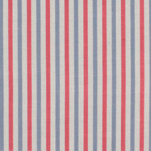 "Alex Conroy Textiles ""Small Stripe"" in Ruby/Wedgwood Blue"