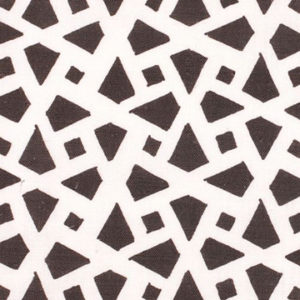 "Alex Conroy Textiles ""Mughal Lattice Large Reverse"" in Chocolate"