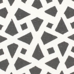 "Alex Conroy Textiles ""Mughal Lattice Large Reverse"" in Charcoal"