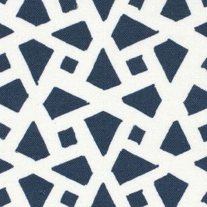 "Alex Conroy Textiles ""Mughal Lattice Large Reverse"" in Indigo"