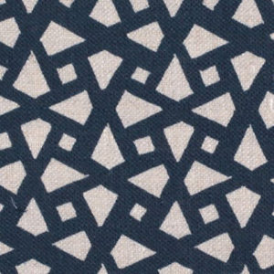"Alex Conroy Textiles ""Mughal Lattice Small"" in Indigo"