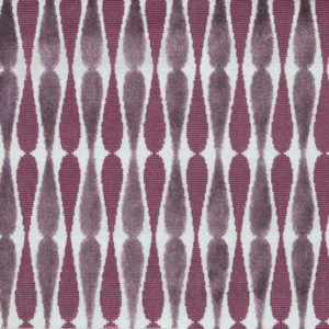 "Allegra Hicks ""Cut Velvet Dragonfly"" in Taupe Aubergine"
