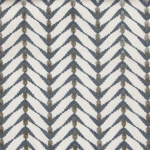 "Allegra Hicks ""Cut Velvet Zebrano"" in Beige Midnight Blue"
