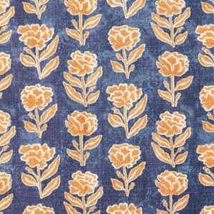 "Anna Spiro ""Marigold Multi"" in Navy/Pumpkin"