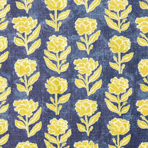 "Anna Spiro ""Marigold Multi"" in Navy/Yellow"