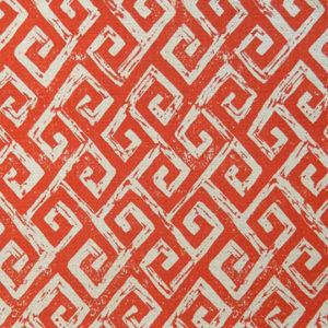 "Anne Kirk Textiles ""Meander"" in Natural & Poppy"