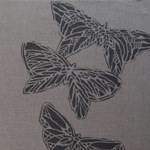 "Anne Kirk Textiles ""Monarch"" in Graphite & Currant"