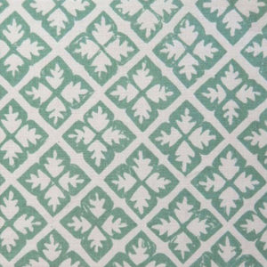 "Anne Kirk Textiles ""Quatrefoil"" in Oyster & Seaglass"