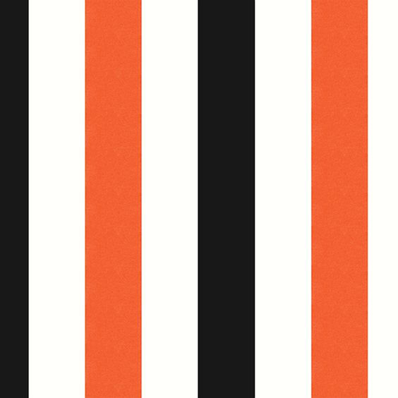 "Arley House ""Midi Stripe"" in Orange Black 2"