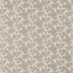 "Bennison Fabrics ""American Resist"" in Original Blue on Beige"