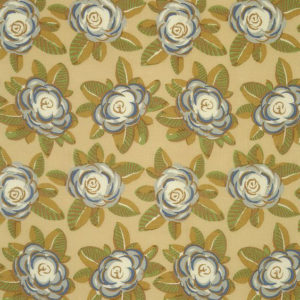 "Bennison Fabrics ""Camellia"" in Original on Oyster"