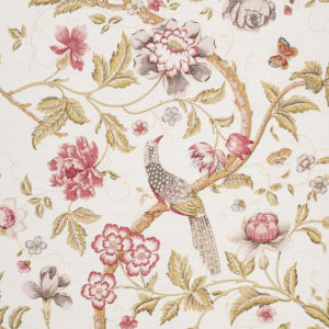 "Bennison Fabrics ""Chinese Pheasant"" in Original on Oyster"