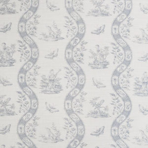 "Bennison Fabrics ""Chinese Toile"" in Pale Blue on Oyster"