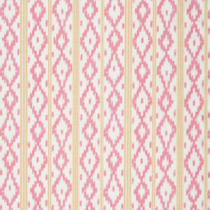 "Bennison Fabrics ""Kazac Stripe"" in Pink Orange on OystPiunk"