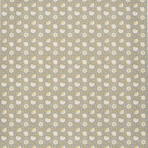 "Bennison Fabrics ""Pali"" in Grey Yellow on Oyster"
