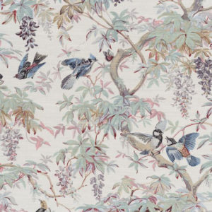 "Bennison Fabrics ""Paradise"" in Original on Oyster"