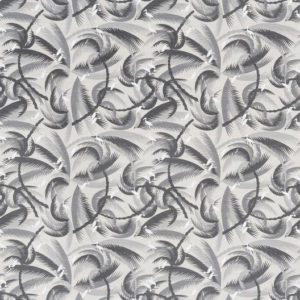"Bennison Fabrics ""Tropical Wind"" in Grey Grey on Oyster"