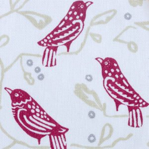 "Block and Brayer ""Birds"" in Berry"