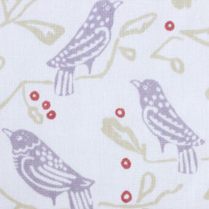 "Block and Brayer ""Birds"" in Lavender & Persimmon"