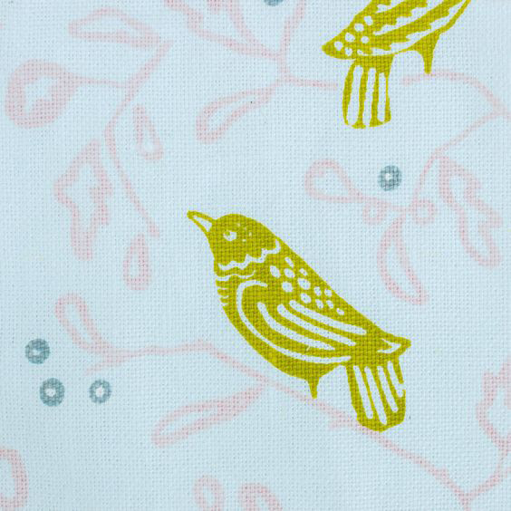 "Block and Brayer ""Birds"" in Chartreuse"