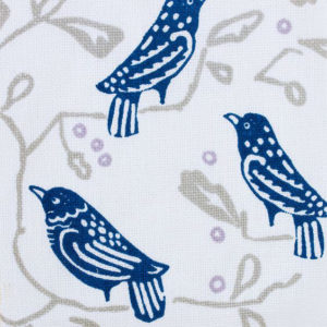 "Block and Brayer ""Birds"" in Indigo"