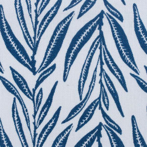 "Block and Brayer ""Leaves"" in Indigo"