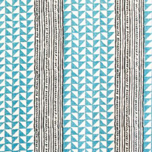 "Carolina Irving Textiles ""Aegean Stripe"" in Sea & Indigo"