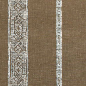 "Carolina Irving Textiles ""Patmos Stripe Reverse"" in Mocha"