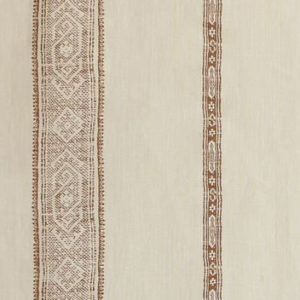 "Carolina Irving Textiles ""Patmos Stripe"" in Mocha"