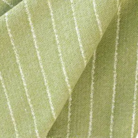 "Chris Barrett Textiles ""Gordan Stripe"" in Celery"