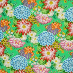"""Clarence House """"Cactus Flower """"in Jade 2"""