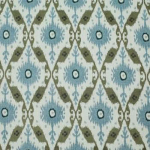 """Clarence House """"Chennai Ikat """"in Brown 3"""