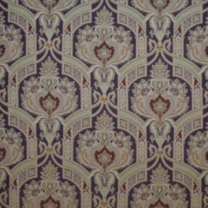 """Clarence House """"Hyderabad Paisley """"in Black 4"""