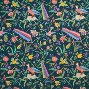 "Clarence House ""Les Fetes Oiseaux Exotiques"" in Navy 2"