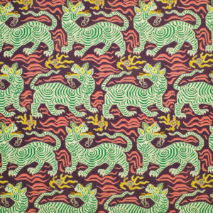 """Clarence House """"Tibet Print"""" in Aubergine 8"""