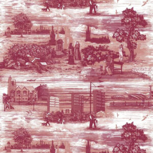 "Timorous Beasties ""Glasgow Toile"" in Reds"