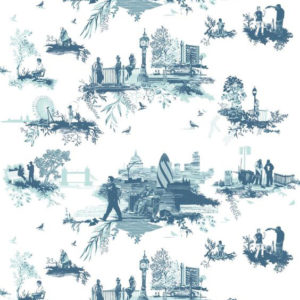 "Timorous Beasties ""London Toile"" in Blues"