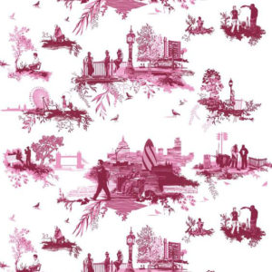 "Timorous Beasties ""London Toile"" in Reds"