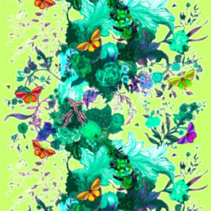 "Timorous Beasties ""Butterfly Blurr"" in Green"
