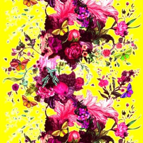 """Timorous Beasties """"Butterfly Blurr"""" in Yellow"""