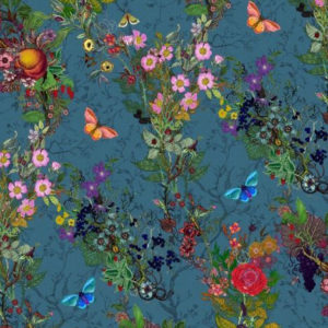 "Timorous Beasties ""Bloomsbury Garden"" in Teal"