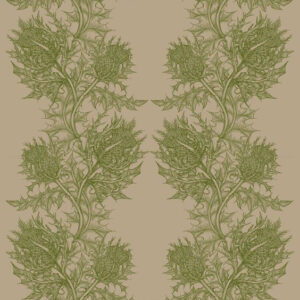 "Timorous Beasties ""Thistle"" in Olive Green"